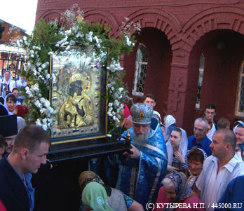 Икона в храме Казанской иконы Божьей Матери